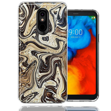 LG Stylo 5 Snake Abstract Design Double Layer Phone Case Cover
