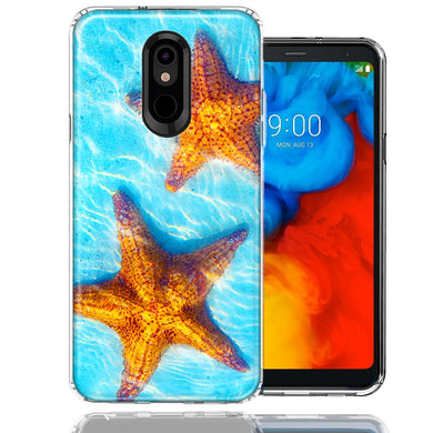 LG K40/Harmony 3 Ocean Starfish Design Double Layer Phone Case Cover