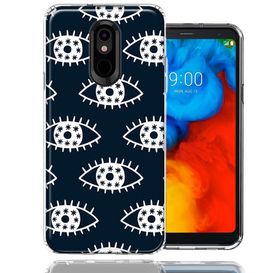 LG Stylo 5 Starry Evil Eyes Design Double Layer Phone Case Cover