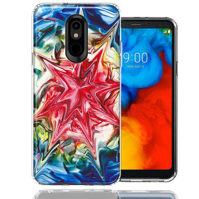 LG Stylo 5 Tie Dye Abstract Design Double Layer Phone Case Cover