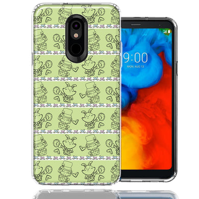 LG K40/Harmony 3 Wonderland Hatter Rabbit Design Double Layer Phone Case Cover