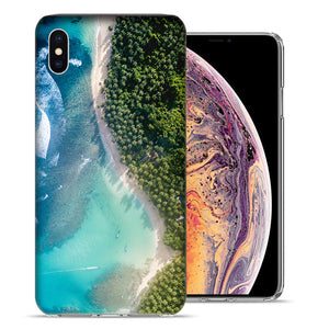 Apple iPhone XR 6.1 inch Island Vacation Design TPU Gel Phone Case Cover