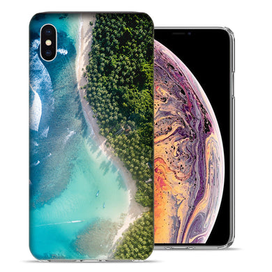 Apple iPhone XS And X Island Vacation Design TPU Gel Phone Case Cover