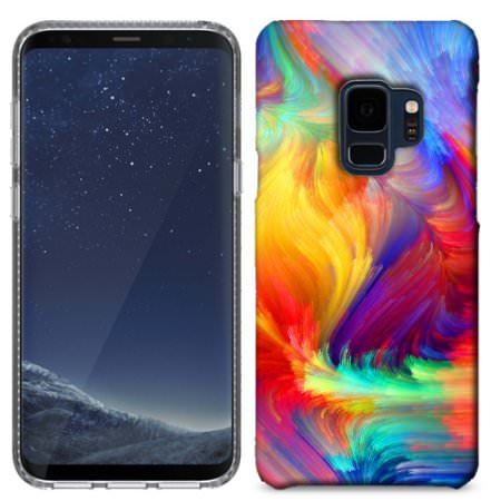 Samsung Galaxy S9 Plus Feathered Colors Phone Cases