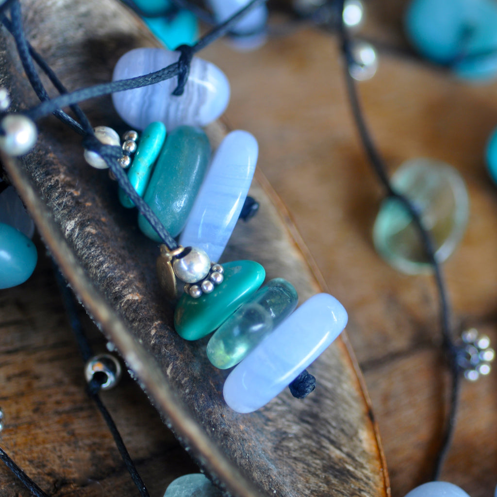 Aqua Ice Crystal Necklace - i Love Chakra