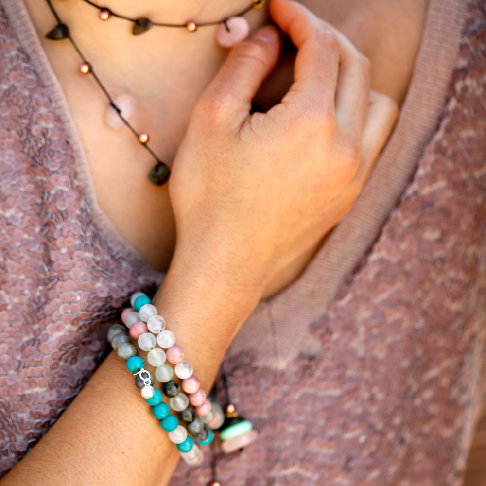 Heart Chakra Bracelet Stack - Love & Compassion