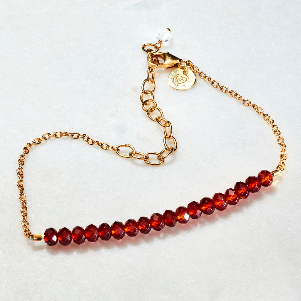 Crystal Beams Bracelet - Garnet - i Love Chakra