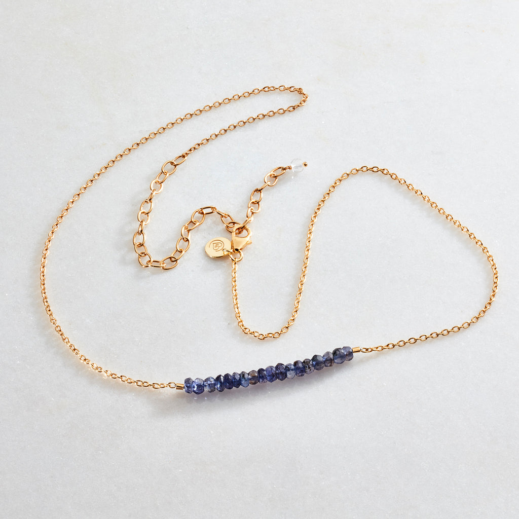 Crystal Beams Necklace - Iolite - i Love Chakra