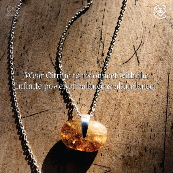 CITRINE SOUL STONE NECKLACE