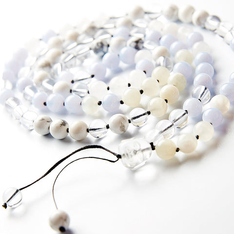 happy buddha crown chakra mala - calm
