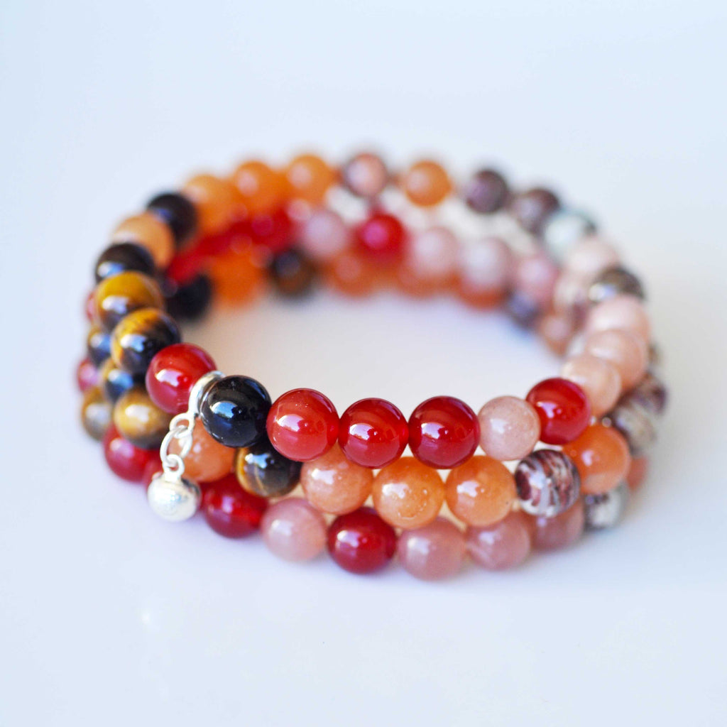 Sacral Bracelet Stack - Fertility & Passion
