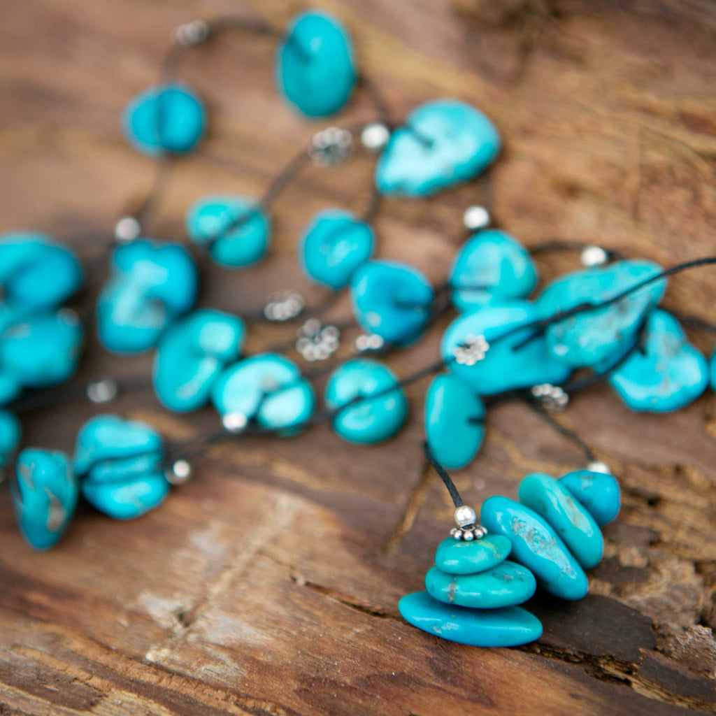 Real Turquoise Necklace - by i Love Chakra
