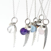 Angel Wing with Birth Stone Necklace - i Love Chakra