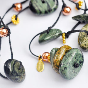 Seraphinite & Green Jasper Necklace - i Love Chakra