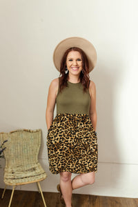 Leopard Block Dress