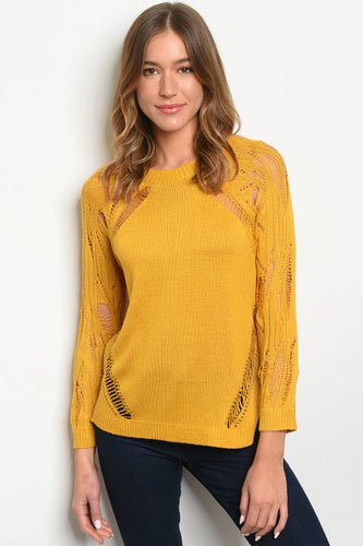 Knitted Mustard Sweater