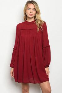 Flowy Wine Dress