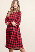 Load image into Gallery viewer, Buffalo Plaid Midi Dress