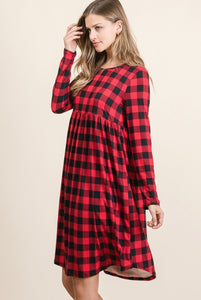 Buffalo Plaid Midi Dress