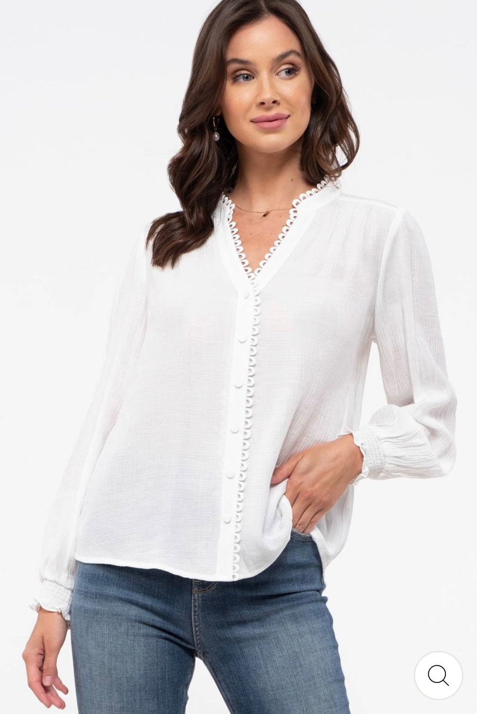 Evelyn Button Blouse