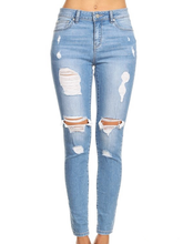 Load image into Gallery viewer, EnJean Distressed Denim