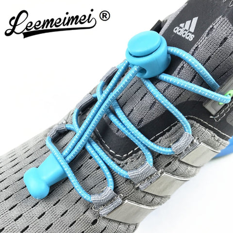 Stretching Lock lace 22 colors a pair Of Locking Shoe Laces Elastic Sneaker Shoelaces Shoestrings Running/Jogging/Triathlon