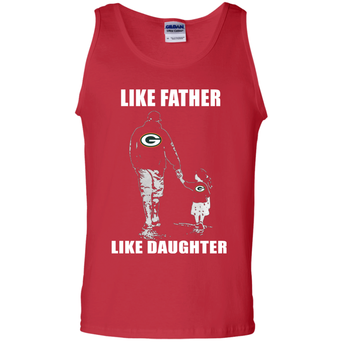 202d68654 ... Like Father Like Daughter – Green Bay Packers T Shirt G220 Gildan 100%  Cotton Tank