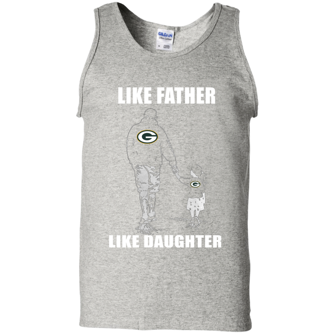 7cc74d387 Like Father Like Daughter – Green Bay Packers T Shirt G220 Gildan 100%  Cotton Tank ...