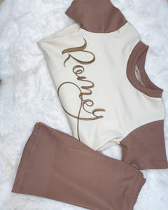 Exclusive Cinnamon shorts and tshirt set