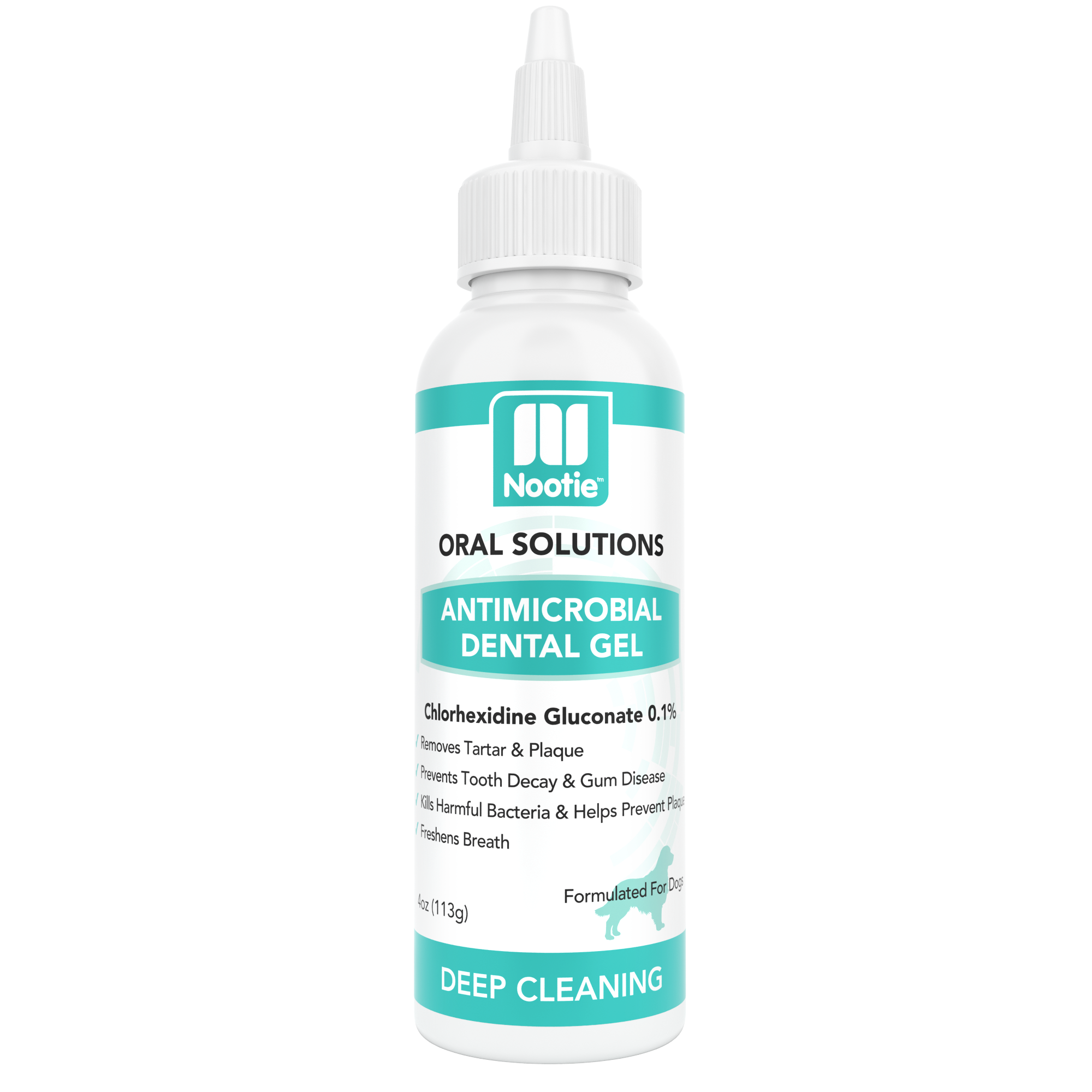 Antimicrobial Dental Gel for Dogs 4 oz