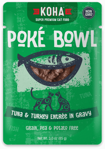Poké Bowl Tuna &  Turkey Entrée in Gravy for Cats