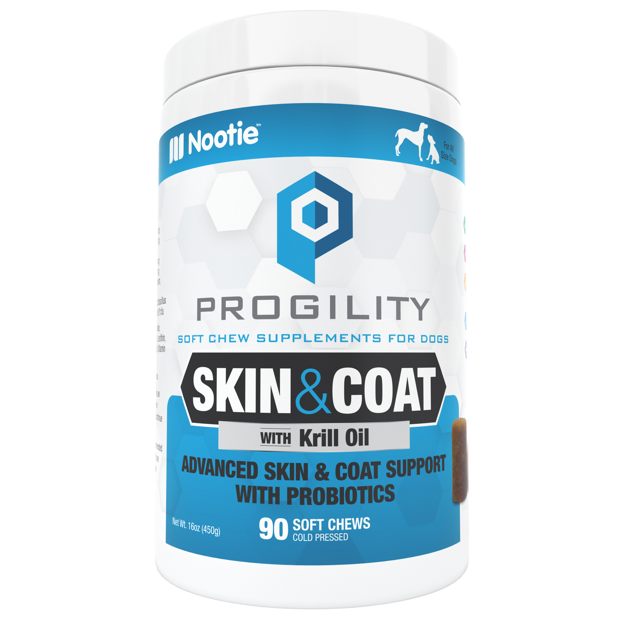 Progility Skin & Coat Soft Chew Supplements for Dogs