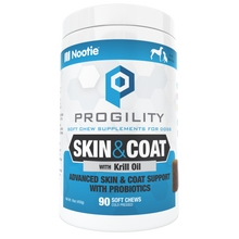 Load image into Gallery viewer, Progility Skin & Coat Soft Chew Supplements for Dogs