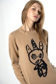 Cashmere sweater with Unicorn motif