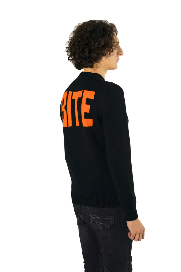 Cashmere sweater with Bite motif