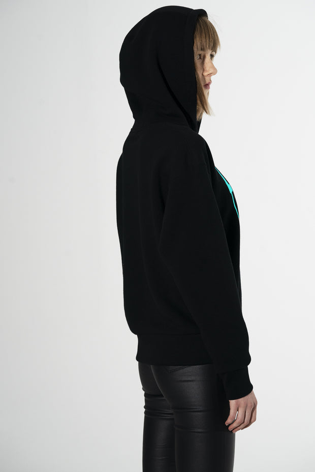 Hoodie with emboss screen printing