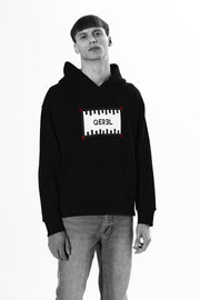 Hoodie with hand-stitched Logo label