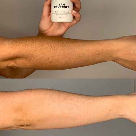 The ultimate tip to apply fake tan is to remove tan first