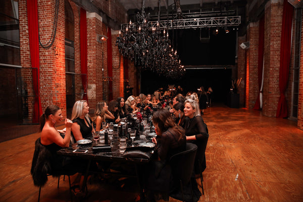 Spray Aus's long table dinner for the launch of dark self tan