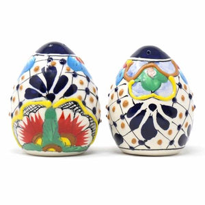 Salt Shakers - Dots and Flowers, Set of Two - Encantada