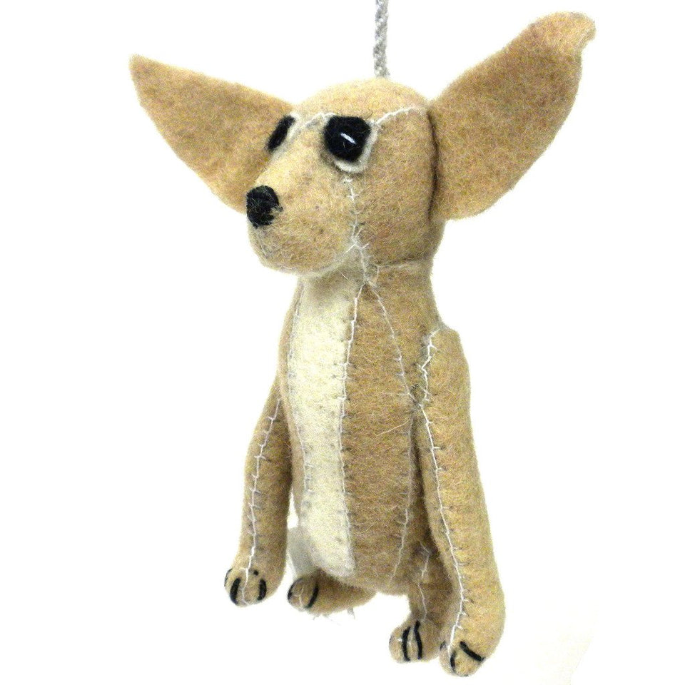 Felt Chihuahua Ornament - Silk Road Bazaar (O)