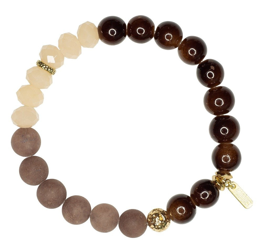 Stretch Bracelet: Molly Latte - Marquet (J)