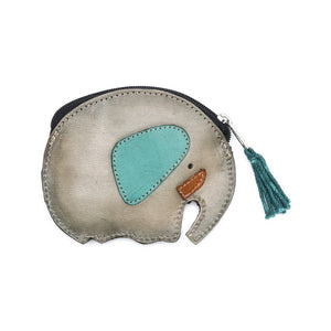 Leather Elephant Coin Pouch - Matr Boomie (A)