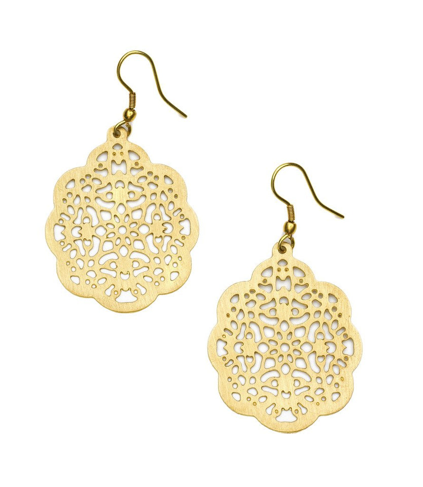 Viti Earrings - Goldtone - Matr Boomie (Jewelry)