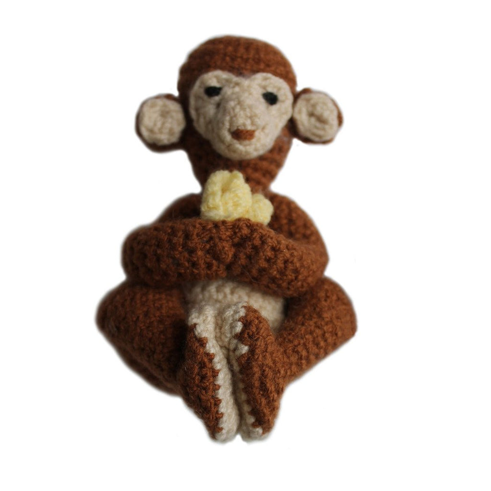 Knit Rattle Monkey - Silk Road Bazaar