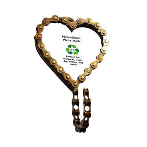 Heart Bicycle Chain Picture Frame Hook - Mira (P)