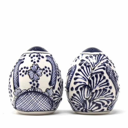 Salt Shakers - Blue Flowers Pattern, Set of Two - Encantada