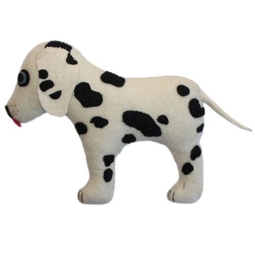 Felted Friend Dalmatian Design -