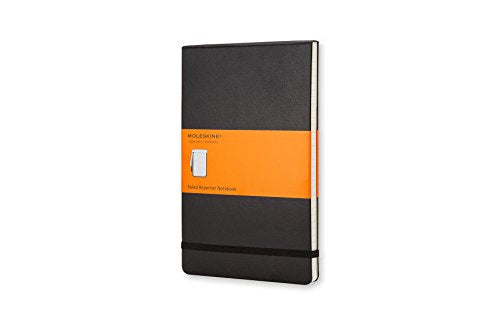 MOLESKINE NOTEBOOK - BLACK HARD COVER - RULED REPORTER  - Pocket
