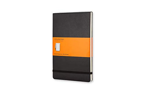 MOLESKINE NOTEBOOK LINED REPORTER HARDBACK BLACK - Large